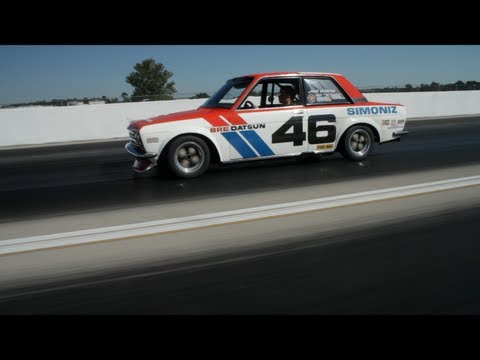 Vintage Datsun BRE 510 Race Car Driven