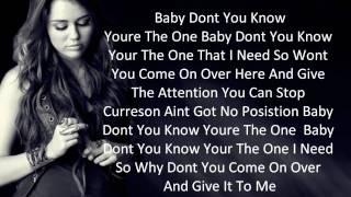Miley Cyrus Breathe On Me Demo Full Song Lyrics 720HD