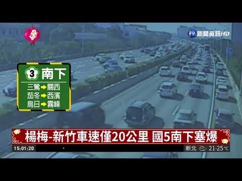 初二天晴南下車潮多 國道6路段易塞   華視新聞 20190206