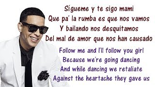 Daddy Yankee - Sígueme y Te Sigo Lyrics English and Spanish - Translations & Meaning - Letras ingles
