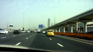 preview picture of video 'Skyline Dubai - Sheikh Zayed Road - Ghweifat International Highway - Dubai (Burj Khalifa)'