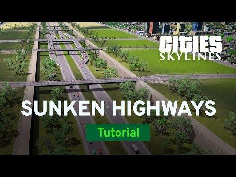 Sunken Highways with ImperialJedi | Modded Tutorial | Cities: Skylines