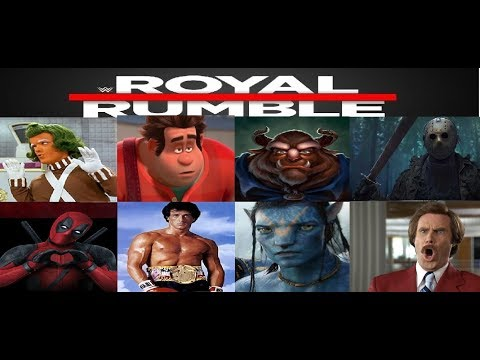 WWE 2k19 Royal Rumble Created Superstar Movie Characters
