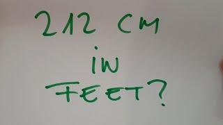 212 cm in feet?