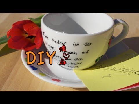 ❤ DIY zum Muttertag ❤ | persönliche Geschenkidee für jeden | personalisierte Tasse :) ☕