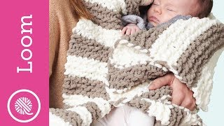 Loom Knit Garter Stitch Baby Blanket