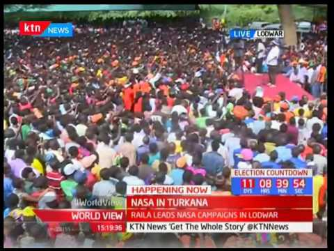 Raila Odinga addresses Turkana residents
