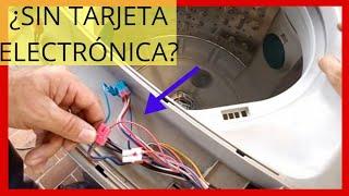 COMO HACER FUNCIONAR UNA LAVADORA SIN TARJETA ELECTRONICA  COMO PROBAR LAS PARTES DE LA LAVADORA SIN