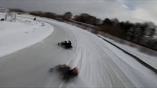 Winter karting and fpv drone ????