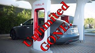 Tesla Motors/Energy: Unlimited Supercharging GONE??? DISCUSS!