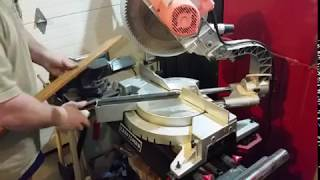 How to cut angles on a miter saw; 90, 60, 45, 30, 22.5 degrees