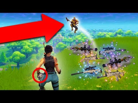 LAUNCHING PEOPLE OFF CLIFFS! *IMPULSE GRENADE TROLLING!* | Fortnite Battle Royale