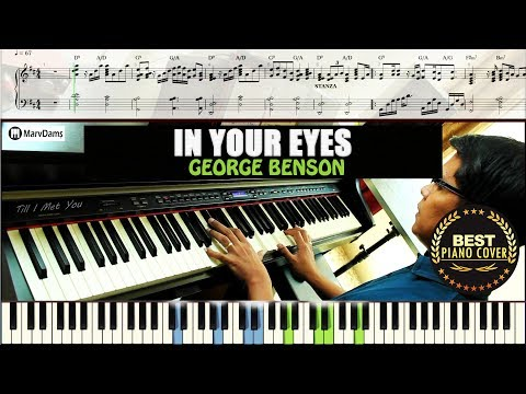 In Your Eyes - George Benson / Piano Cover Instrumental Tutorial Guide
