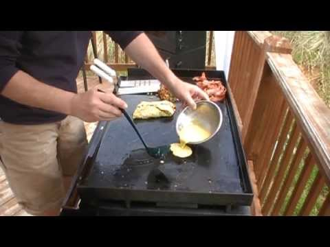 Taco Omelettes on the Blackstone Griddle