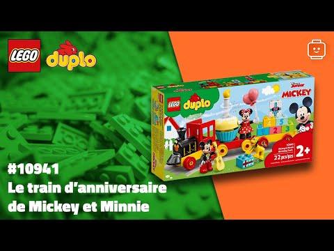 Vidéo LEGO Duplo 10941 : Le train d'anniversaire de Mickey et Minnie