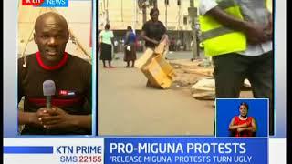 Chaos in Migori, Homa-Bay and Kisumu demanding the release of Miguna Miguna