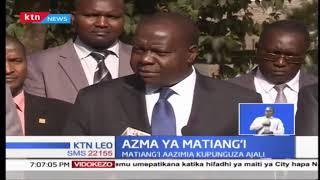 Waziri Fred Matiang'I ametangaza lengo la kupunguza idadi ya ajili barabarani