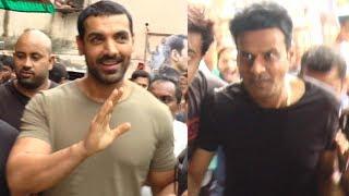 John Abraham And Manoj Bajpayee At Gaiety Galaxy For 'Satyameva Jayate' Audience Reaction