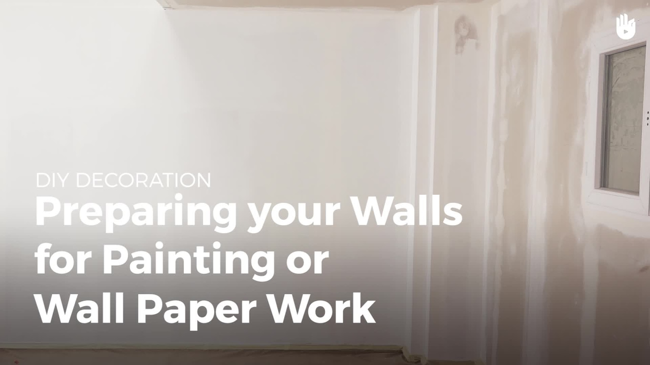 How to Prepare a Wall for Paint or Wallpaper - Household DIY Projects | Sikana