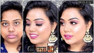SWISS BEAUTY ONE BRAND WEDDING GUEST MAKEUP TUTORIAL FOR DARK SKIN | AFFORDABLE PRODUCTS UNDER 300