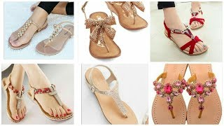 New Comfortable Footwear Collection || Ladies Flat Party & Casual Sandals