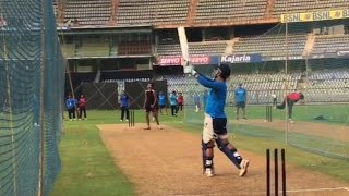MS Dhoni hitting huge sixes in practice session | India vs New Zealand 1st ODI