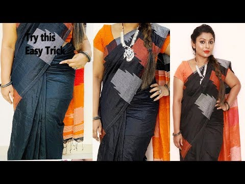 Try this weird trick to get perfect pleats|how to wear saree easily & quickly within 5 mins