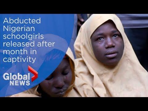 Nigerian schoolgirls abducted by Boko Haram speak after release
