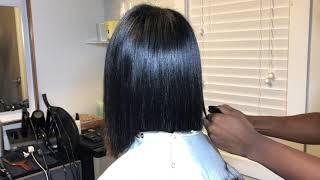BLUNT BOB CUT ON NATURAL HAIR