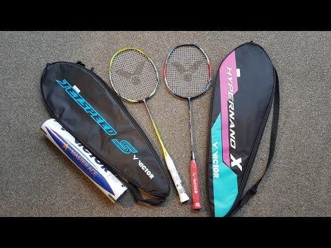 Victor Jet Speed S12 vs Hypernnano X900 Badminton Racket Review