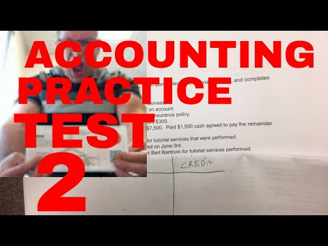 ACCOUNTING PRACTICE TEST / BALANCE SHEET / JOURNAL ENTRIES / ASSETS = LIABILITIES + EQUITY / #2