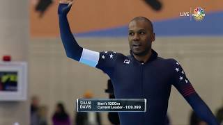 Olympic Long Track Speedskating Trials | Shani Davis And Kimani Griffin Compete In The Men's 1,000m