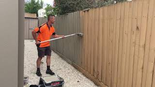 How to paint a fence fast using a roller