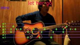 let her go passenger guitar chords and tab