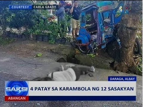 [GMA]  Saksi: 4 patay sa karambola ng 12 sasakyan