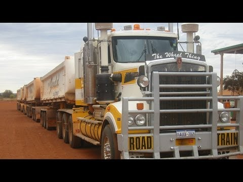 Super car video Outback Trucking Australia Roadtrains through WA..