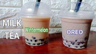 How To Make Milk Tea | Milk Tea Recipes | Oreo And Wintermelon Milk Tea