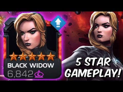 5 Star Black Widow (Claire Voyant) Rank Up & Gameplay! - Marvel Contest of Champions