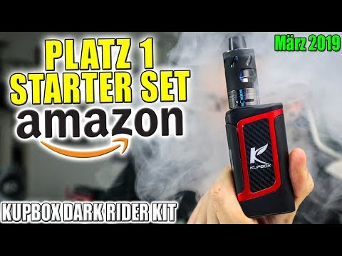 BESTSELLER AMAZON 30€ E-ZIGARETTE MÄRZ 2019 | Kupbox Dark Rider Kit