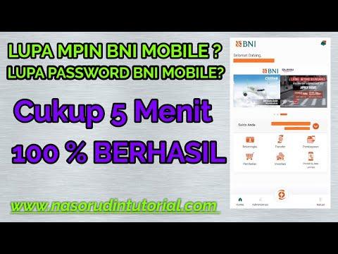 Cara Mengatasi Lupa MPIN Dan Password Transaksi Pada Mobile Bangking BNI Dengan Mudah #Password
