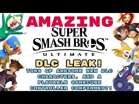AMAZING Smash Ultimate DLC LEAK! TONS OF NEW CHARACTERS REVEALED! PLAYABLE GAMECUBE CONTROLLER?!