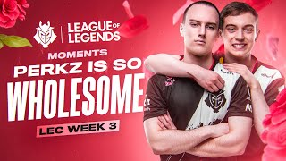 PERKZ is so Wholesome | LEC Spring 2020 Week 3 Moments