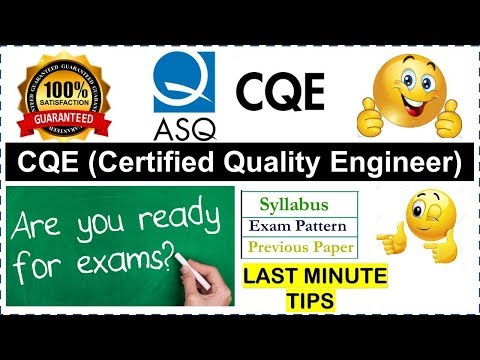ASQ CQE Certified Quality Engineer - Last minute Tips | Exam Pattern