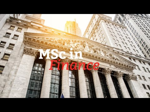 MSc in Finance: the right future for you
