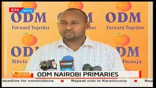 Junet Mohamed presser on ongoing ODM Nairobi Primaries