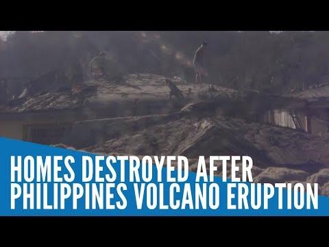 Homes destroyed after Taal Volcano eruption