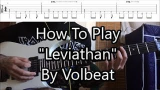 "How To Play ""Leviathan"" By Volbeat (Riff Lesson With TABS!)"