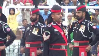 Wagah Border Lahore Pakistan Vs India  Flag Lowering Ceremony Sunday 22nd, October, 2017