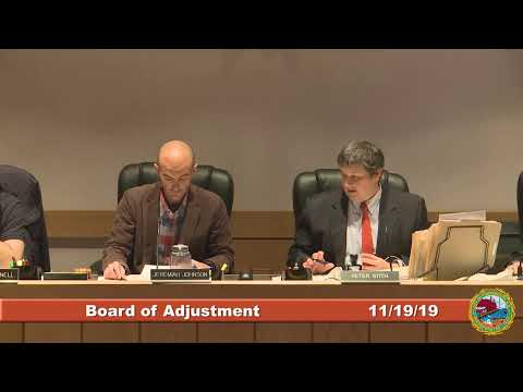 Board of Adjustment 11.19.19