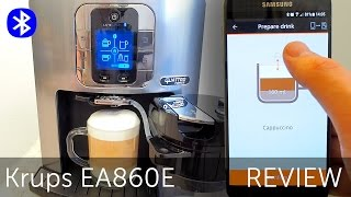 Krups EA860E Latte Smart review - espresso coffee maker with bluetooth smartphone app control EA86